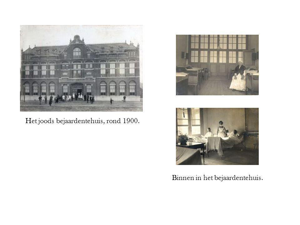 Het joods bejaardentehuis, rond 1900. Binnen in het bejaardentehuis.