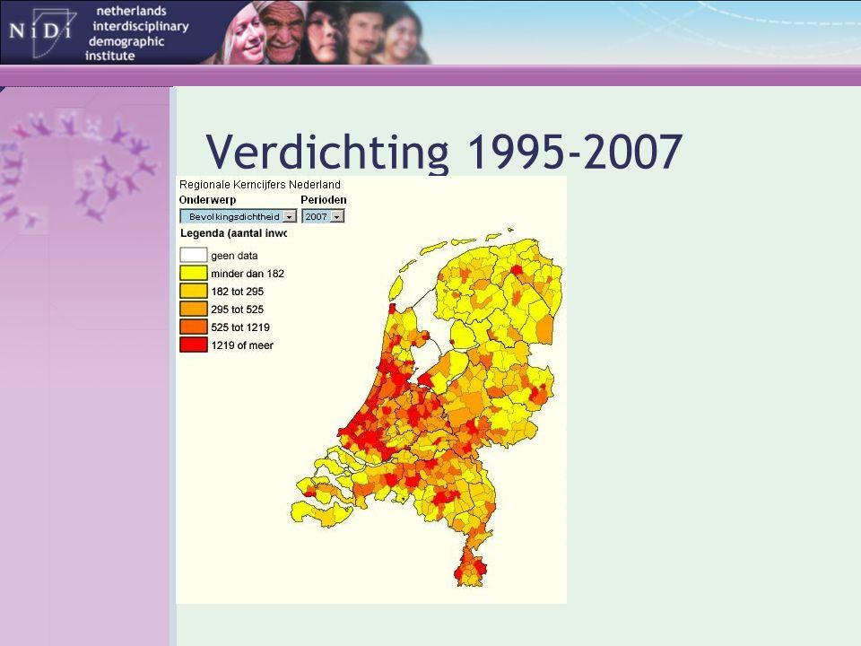 Inkomen naar stedelijkheidsgraad x 1000 € Bron: SCP 2006
