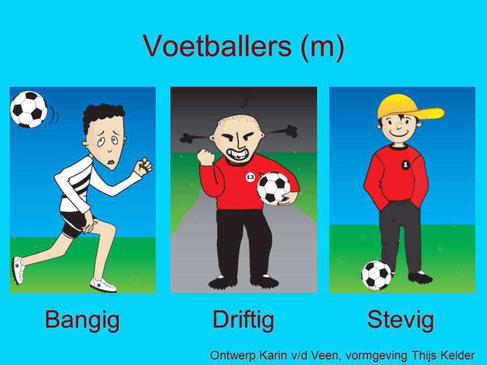 Voetballers (m) BangigDriftigStevig Ontwerp Karin v/d Veen, vormgeving Thijs Kelder