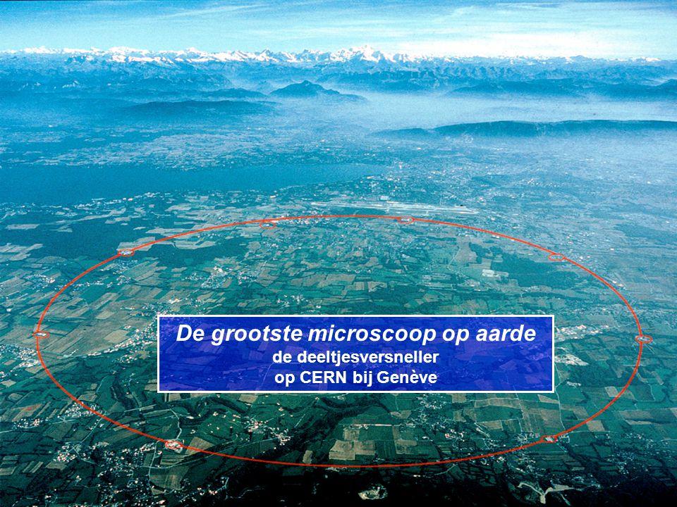 De grootste microscoop op aarde de deeltjesversneller op CERN bij Genève