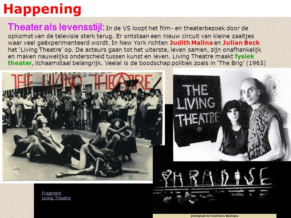 Happening Theater als levensstijl: In de VS loopt het film- en theaterbezoek door de opkomst van de televisie sterk terug.