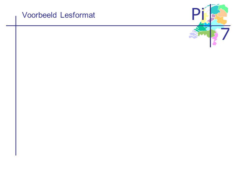 Pi 7 Voorbeeld Lesformat