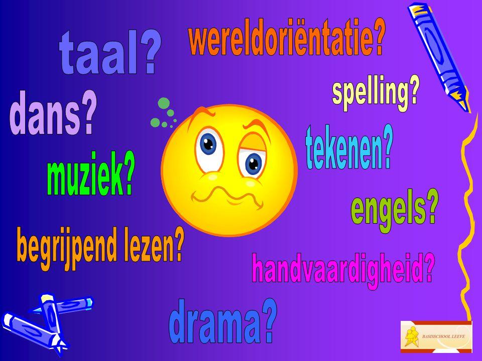 •1 keer per week praten we in het Engels over het thema.