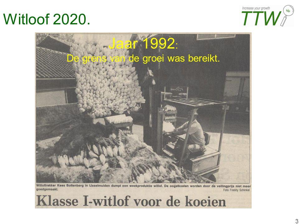 3 Jaar 1992 : De grens van de groei was bereikt.