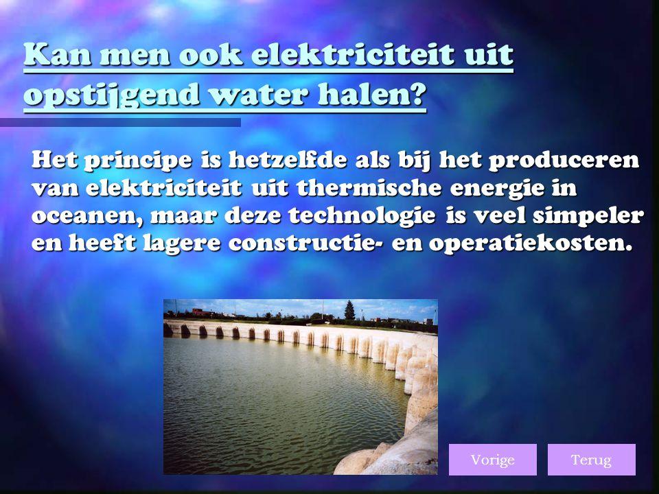 Kan men ook elektriciteit uit opstijgend water halen.
