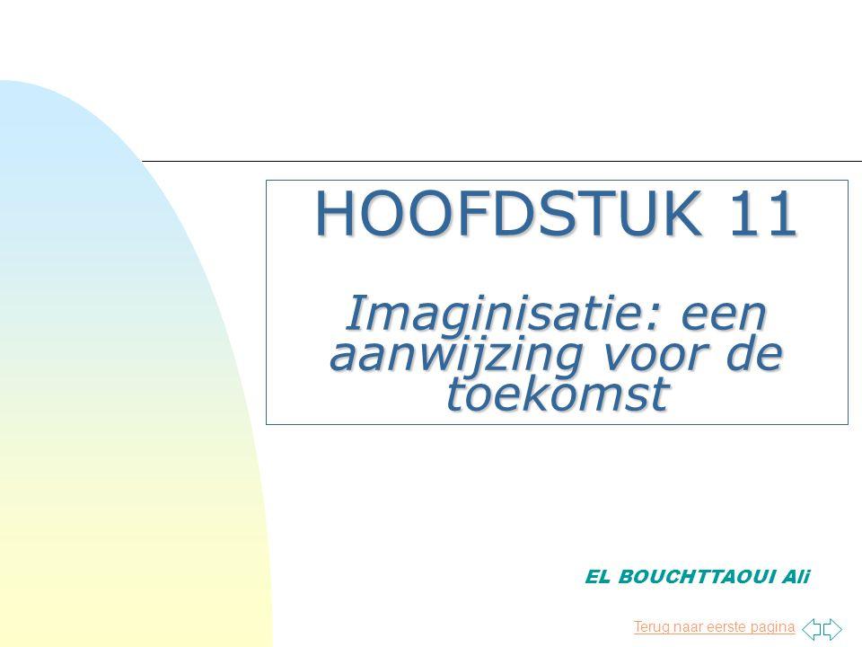 Terug naar eerste pagina HOOFDSTUK 11 Imaginisatie: een aanwijzing voor de toekomst EL BOUCHTTAOUI Ali
