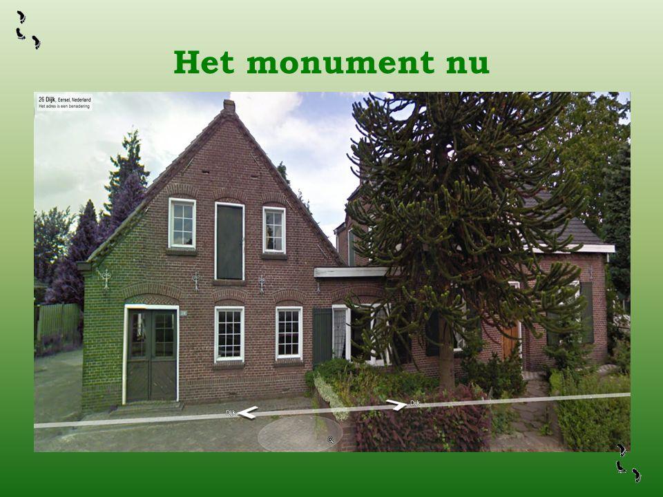 Het monument nu