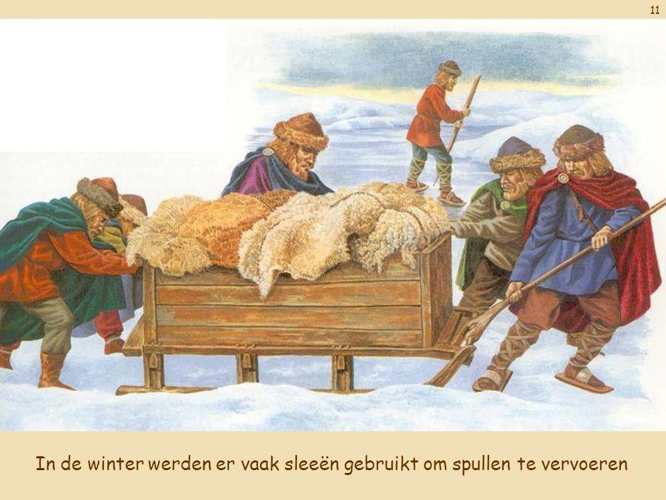 11 In de winter werden er vaak sleeën gebruikt om spullen te vervoeren