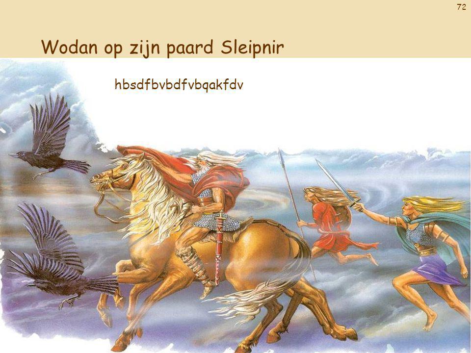 72 Wodan op zijn paard Sleipnir hbsdfbvbdfvbqakfdv