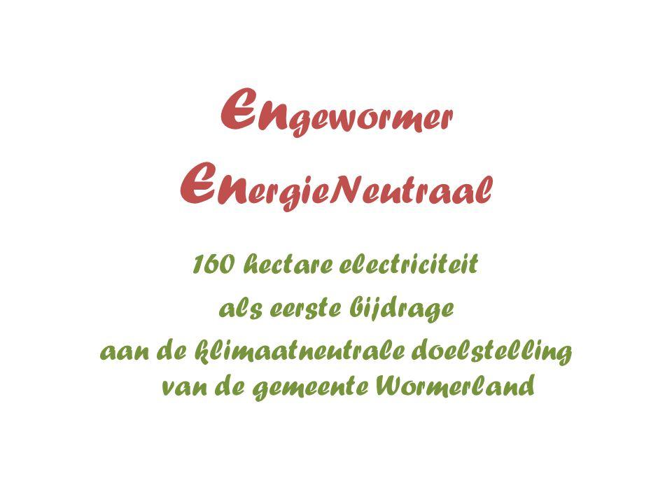 En gewormer En ergieNeutraal 160 hectare electriciteit als eerste bijdrage aan de klimaatneutrale doelstelling van de gemeente Wormerland