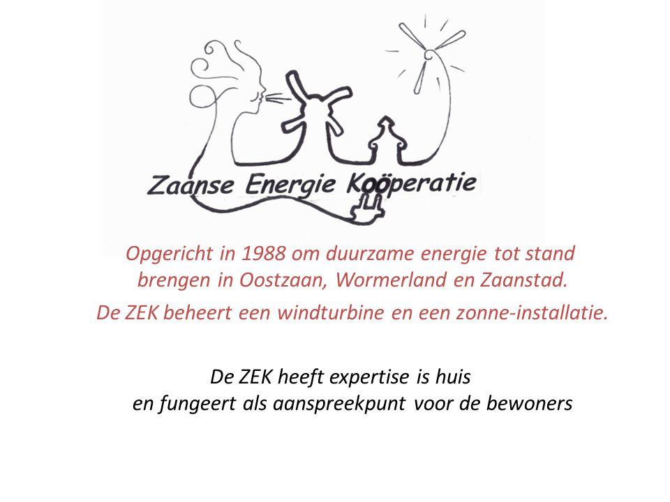 Opgericht in 1988 om duurzame energie tot stand brengen in Oostzaan, Wormerland en Zaanstad.