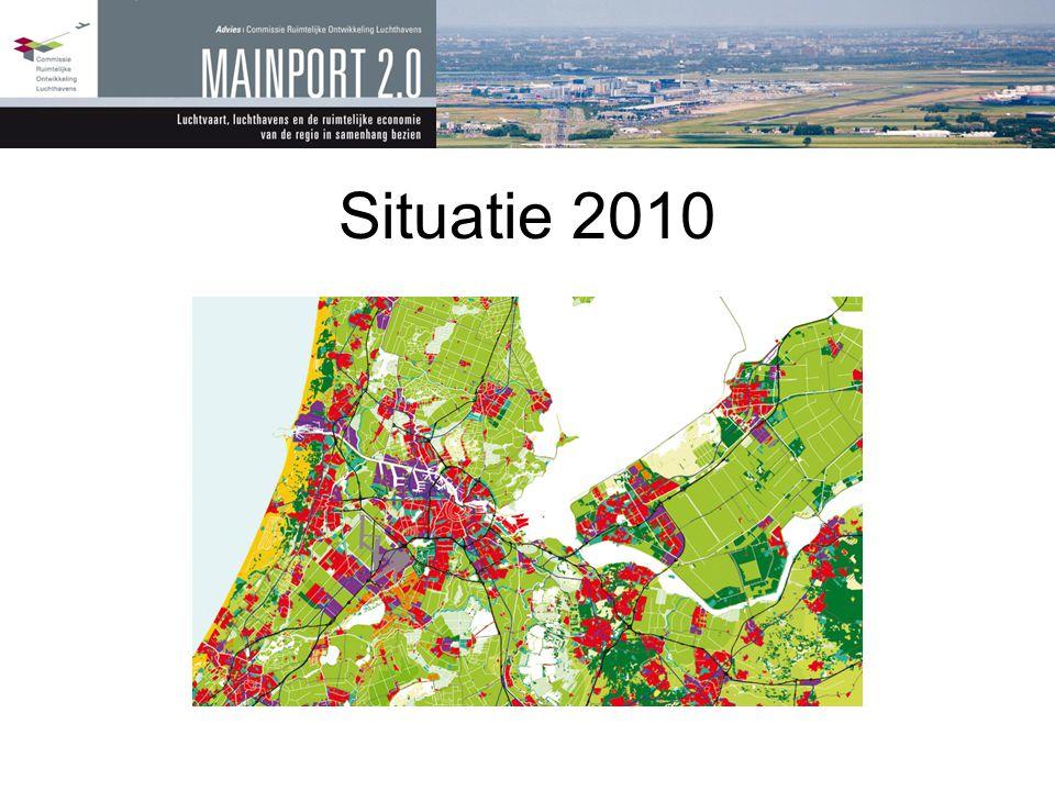 Kernconclusie •Enorme ruimtelijke ontwikkeling van én rond Schiphol •Airside en landside zijn nauw verbonden •Airside: kwaliteit van het netwerk •Landside: leefklimaat, economie, ruimte •Schiphol: luchthaven én ontwikkelaar •Vraagt om: samenhangend beleid op het gebied van regio, luchtvaart en luchthaven