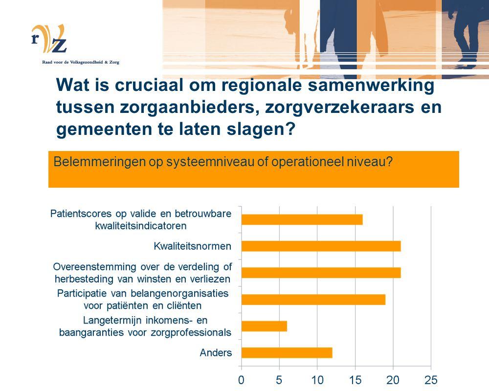 Wat is cruciaal om regionale samenwerking tussen zorgaanbieders, zorgverzekeraars en gemeenten te laten slagen.