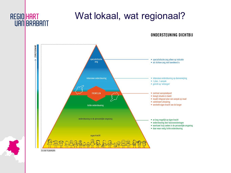 Wat lokaal, wat regionaal?