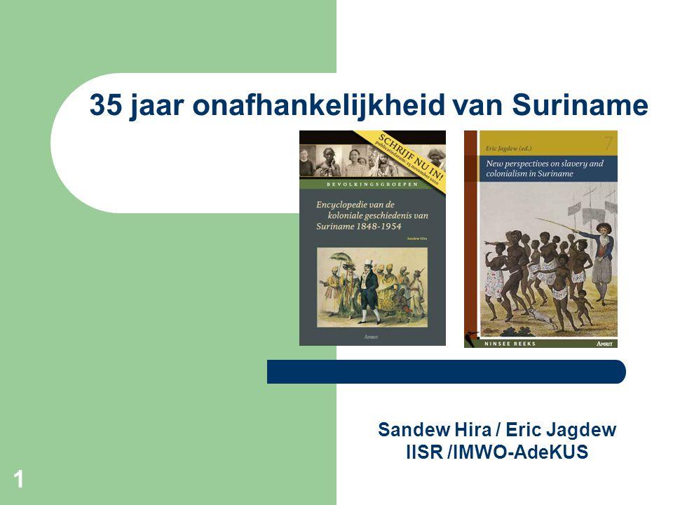 1 Sandew Hira / Eric Jagdew IISR /IMWO-AdeKUS 35 jaar onafhankelijkheid van Suriname