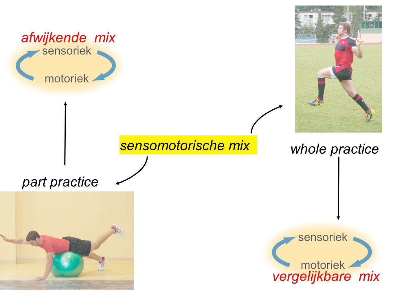 part practice whole practice afwijkende mix vergelijkbare mix