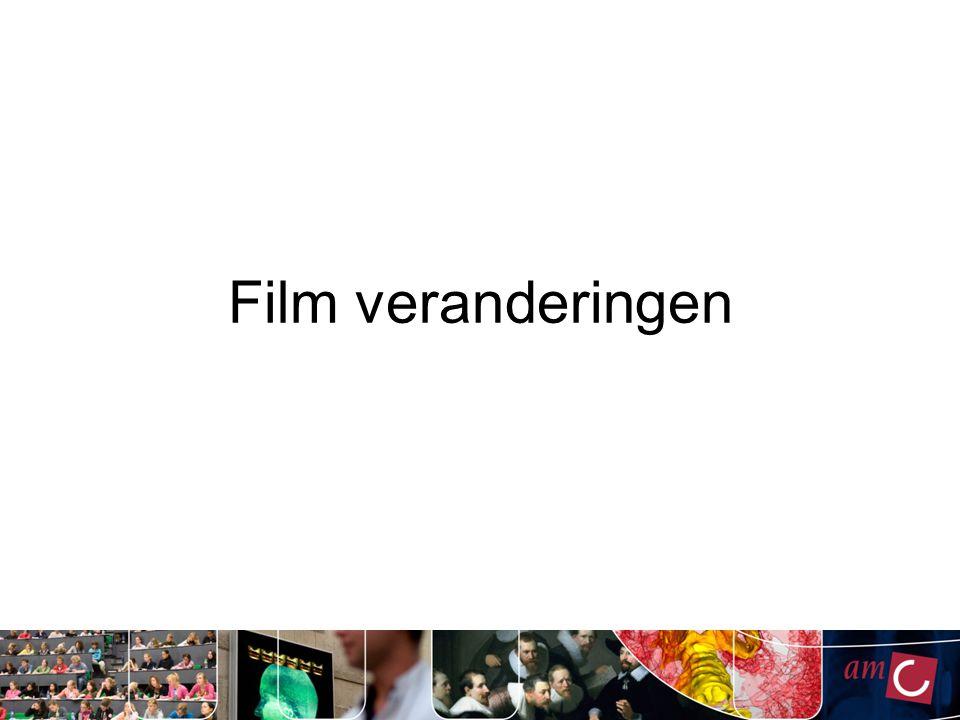 Film veranderingen