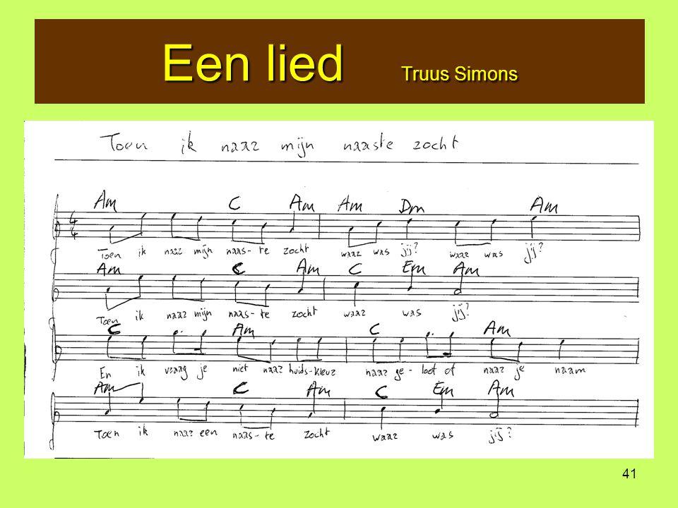 41 Een lied Truus Simons