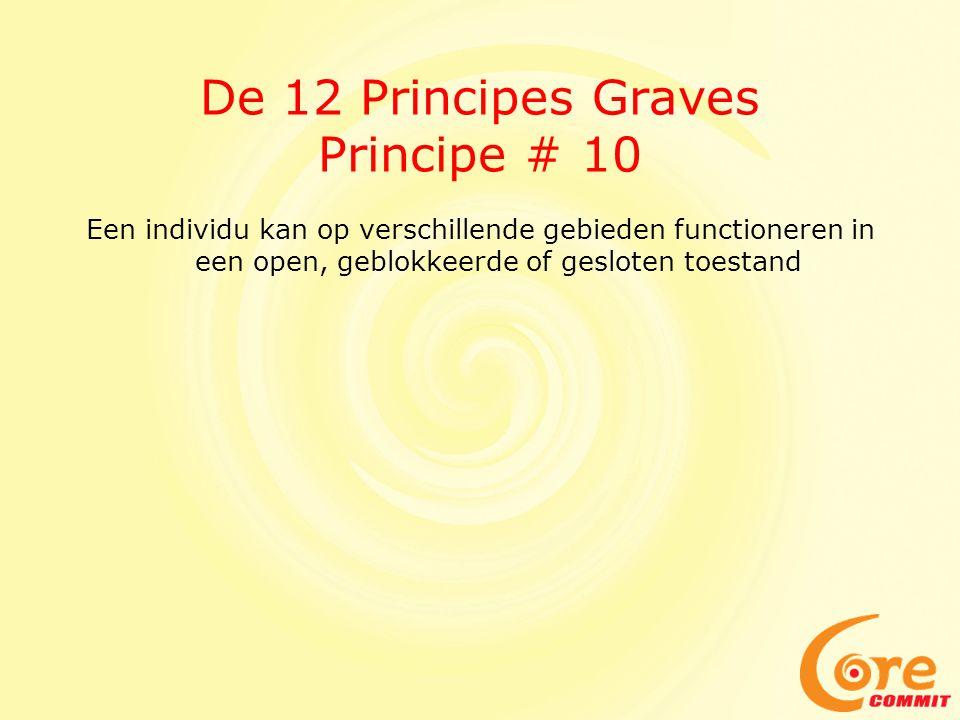 De 12 Principes Graves Principe # 10 Een individu kan op verschillende gebieden functioneren in een open, geblokkeerde of gesloten toestand