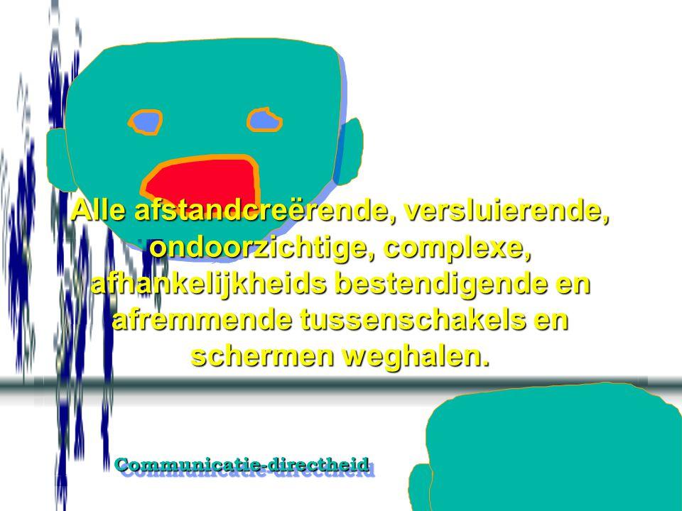 Communicatie-directheidCommunicatie-directheid Mijn vragen zijn vragen en zijn niet bedoeld als opmerkingen.