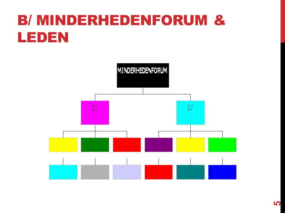 B/ MINDERHEDENFORUM & LEDEN 5