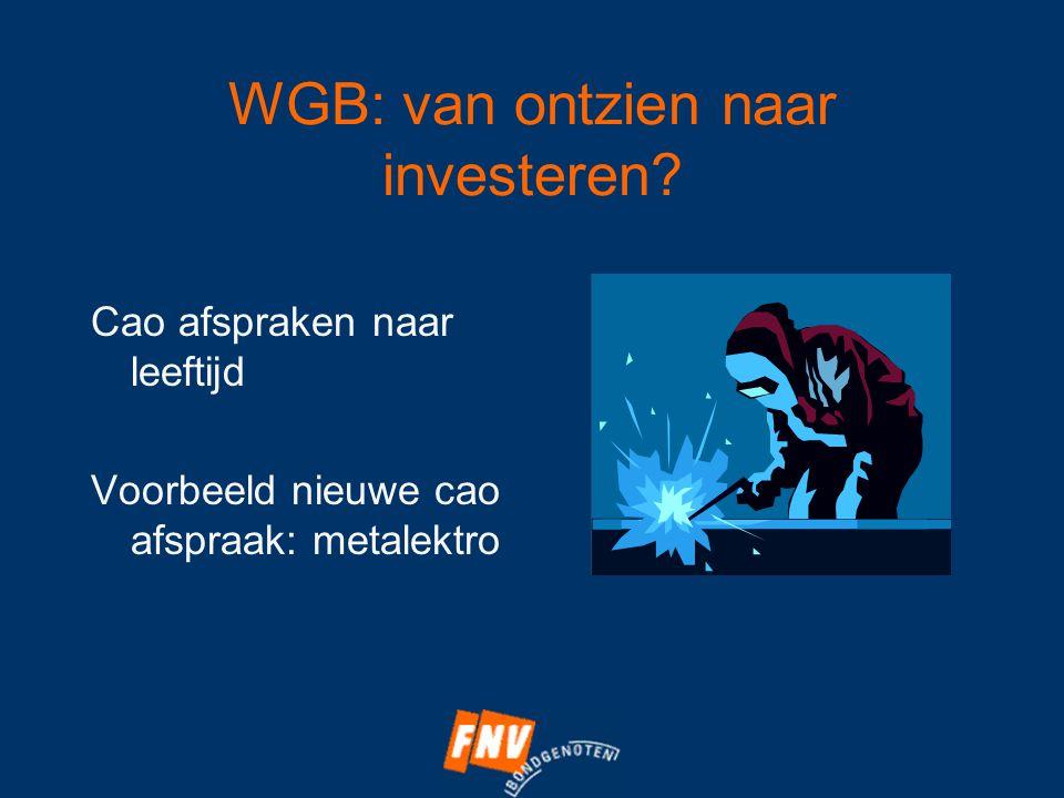 WGB: van ontzien naar investeren.