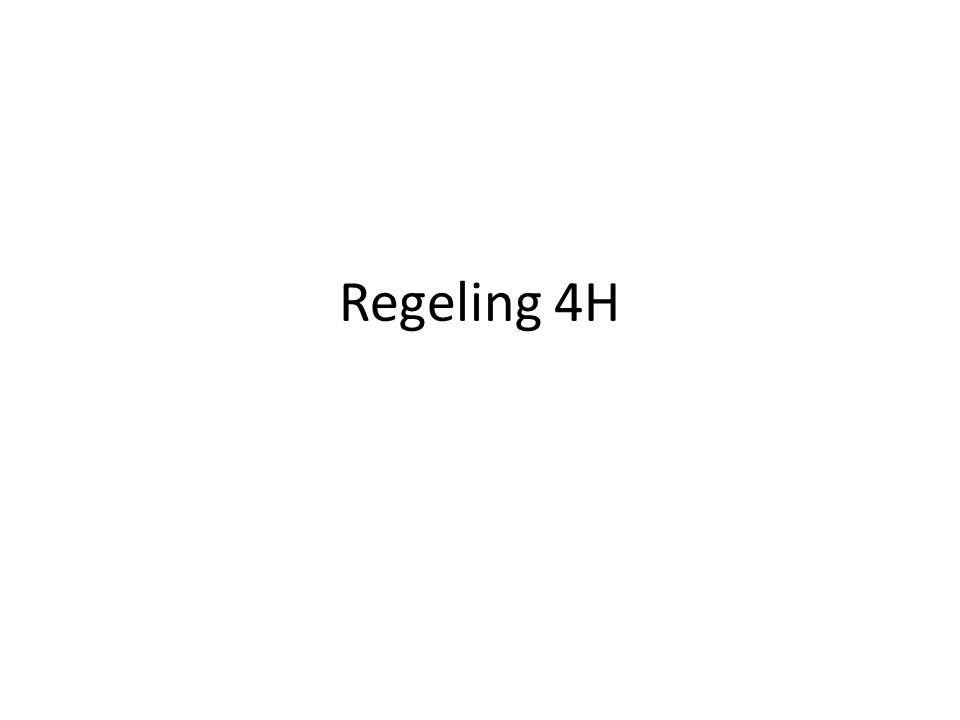 Regeling 4H