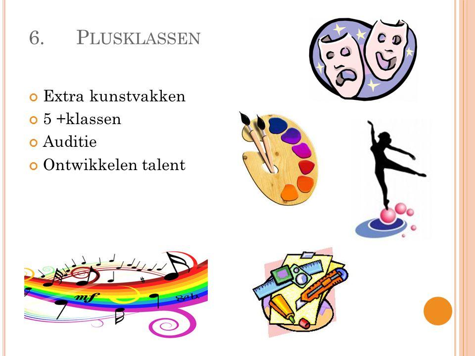 6.P LUSKLASSEN Extra kunstvakken 5 +klassen Auditie Ontwikkelen talent