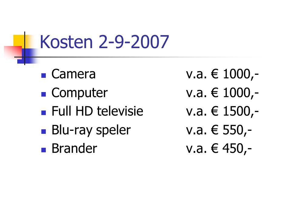 Kosten 2-9-2007  Camerav.a. € 1000,-  Computerv.a.