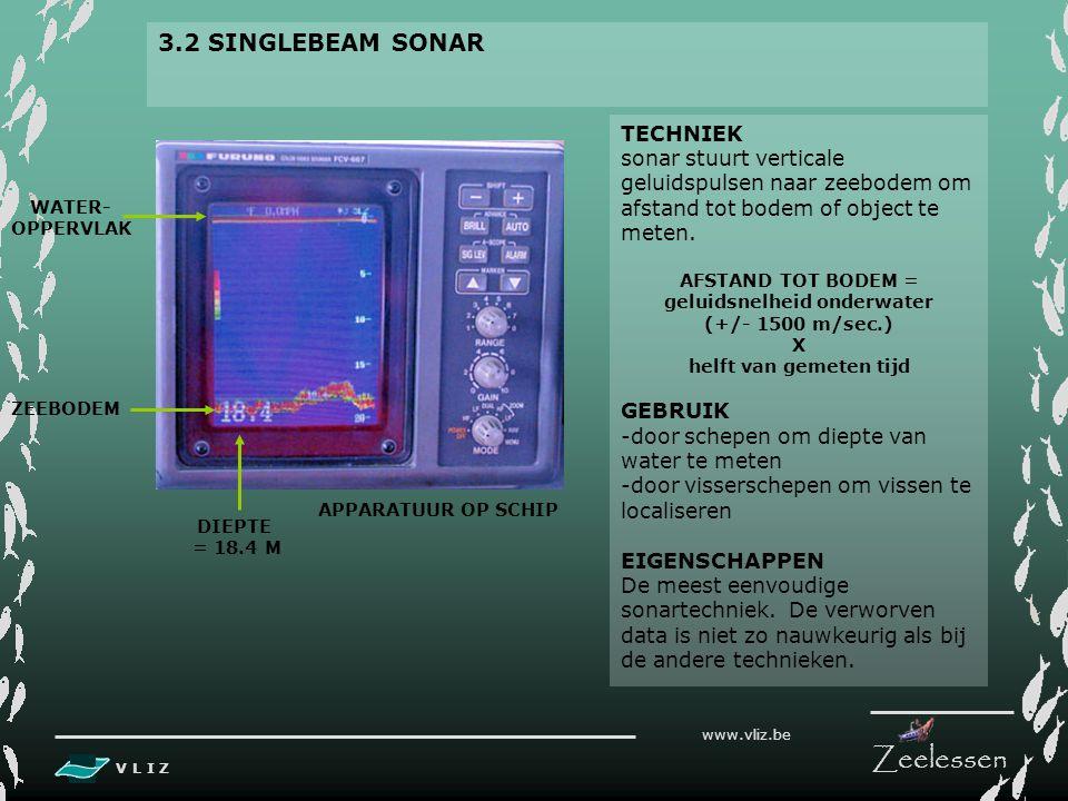 V L I Z www.vliz.be Zeelessen 3. SOORTEN 3.1 LODEN ZONDER ECHO 'LODEN' Zonder technologische apparatuur werd vroeger de diepte onder schip gemeten doo