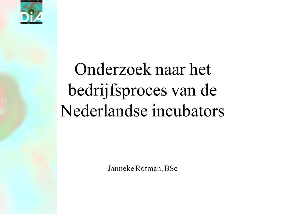 Onderzoek naar het bedrijfsproces van de Nederlandse incubators Janneke Rotman, BSc