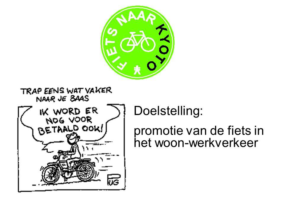 Doelstelling: promotie van de fiets in het woon-werkverkeer