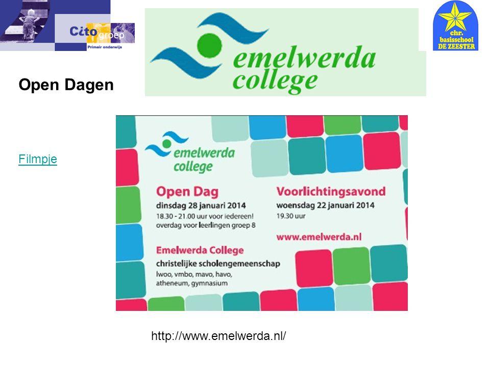 Open Dagen Informatie avond – CITO 9-01-07 Filmpje http://www.emelwerda.nl/