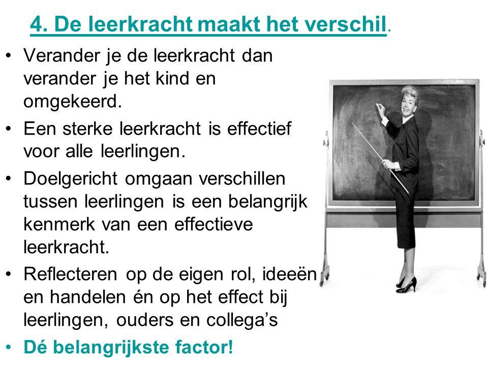 4.De leerkracht maakt het verschil.