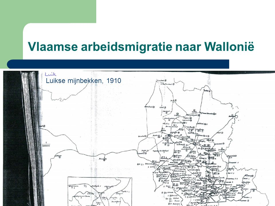Vlaamse arbeidsmigratie naar Wallonië Luikse mijnbekken, 1910