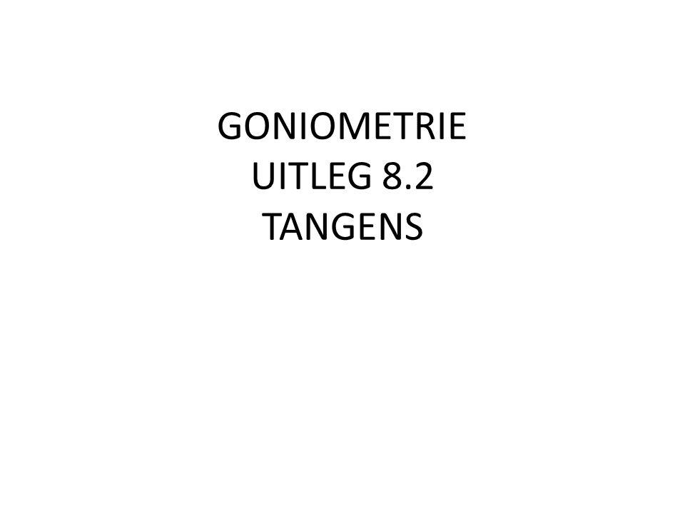 GONIOMETRIE UITLEG 8.2 TANGENS