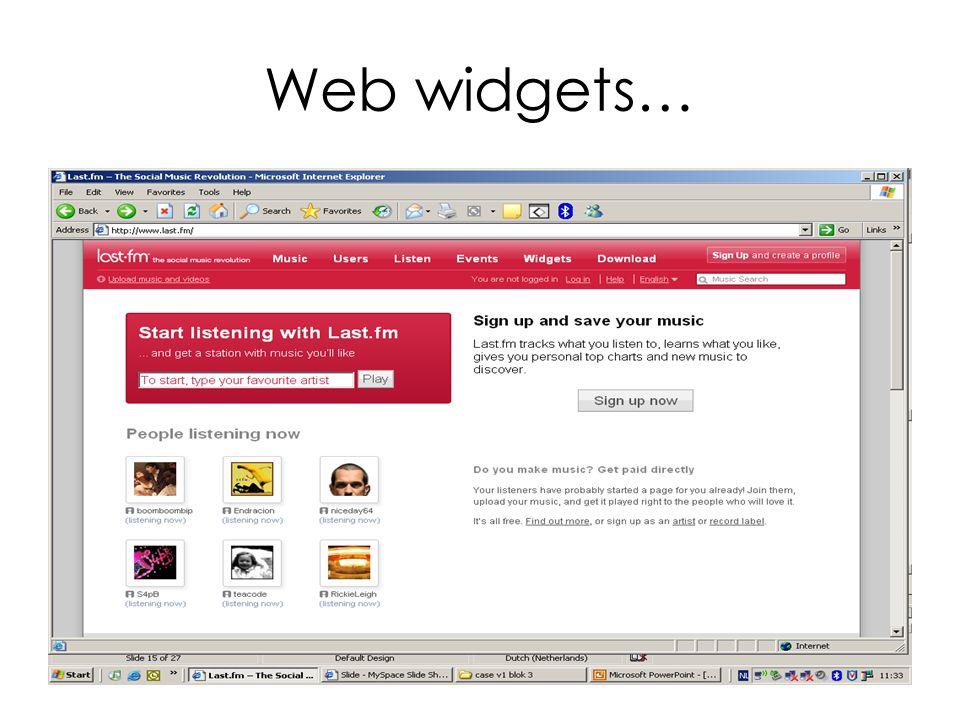 Web widgets…