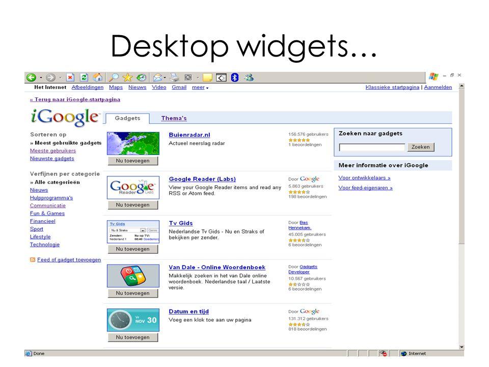 Desktop widgets…