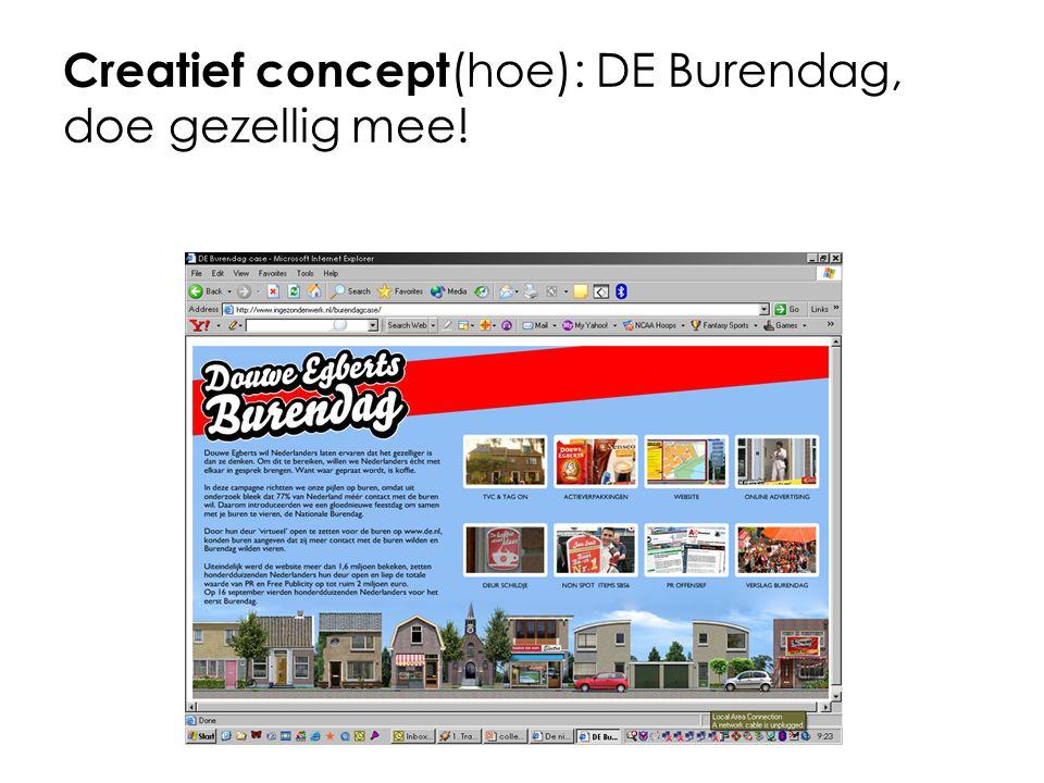 Creatief concept (hoe): DE Burendag, doe gezellig mee!