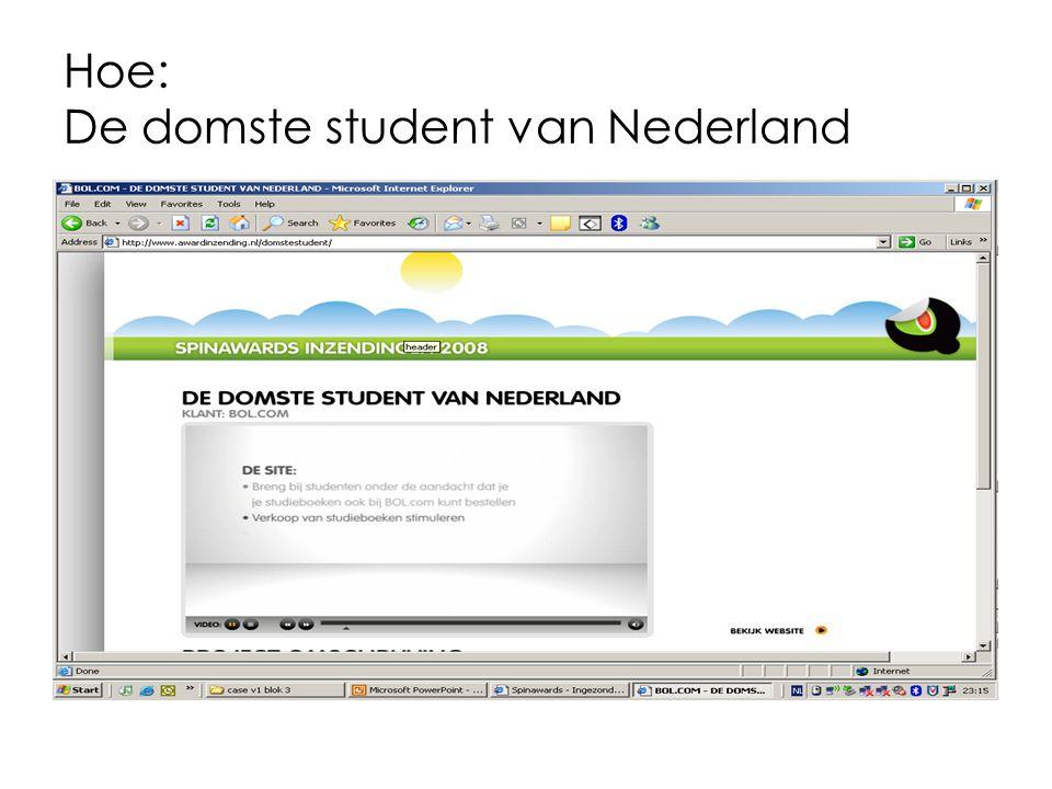 Hoe: De domste student van Nederland