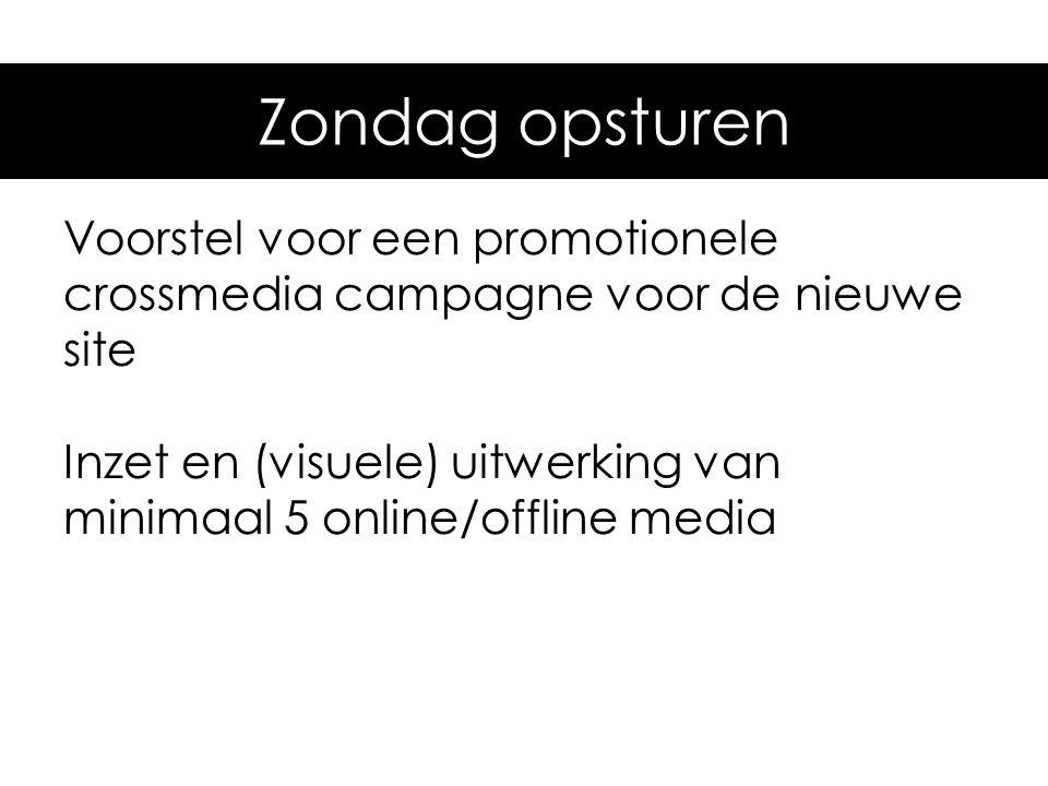 Do/Vr laten zien: Voorstel voor een promotionele crossmedia campagne voor de nieuwe site Inzet en (visuele) uitwerking van minimaal 5 online/offline m
