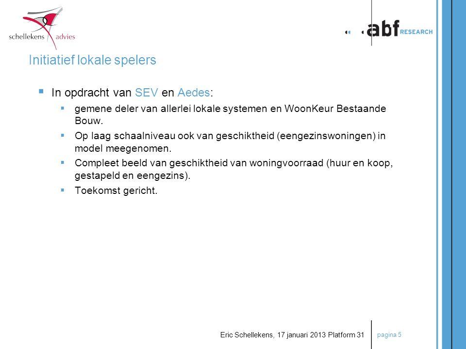 pagina 16 Eric Schellekens, 17 januari 2013 Platform 31 Aanpak Aanbod