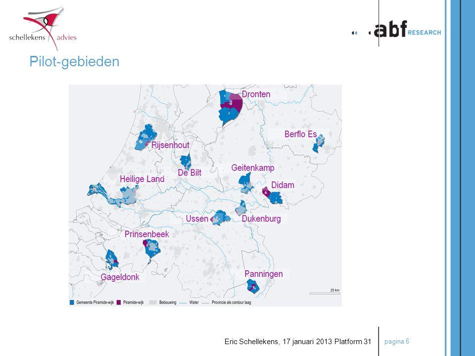 pagina 17 Eric Schellekens, 17 januari 2013 Platform 31  Inventarisatie van bestanden  Eerste filter: Analyse van bestanden WOZ en WWS  Veldwerk  Tweede filter: Schouw van woningen  Derde filter: Check achter de voordeur Typering aanbod naar keurmerk