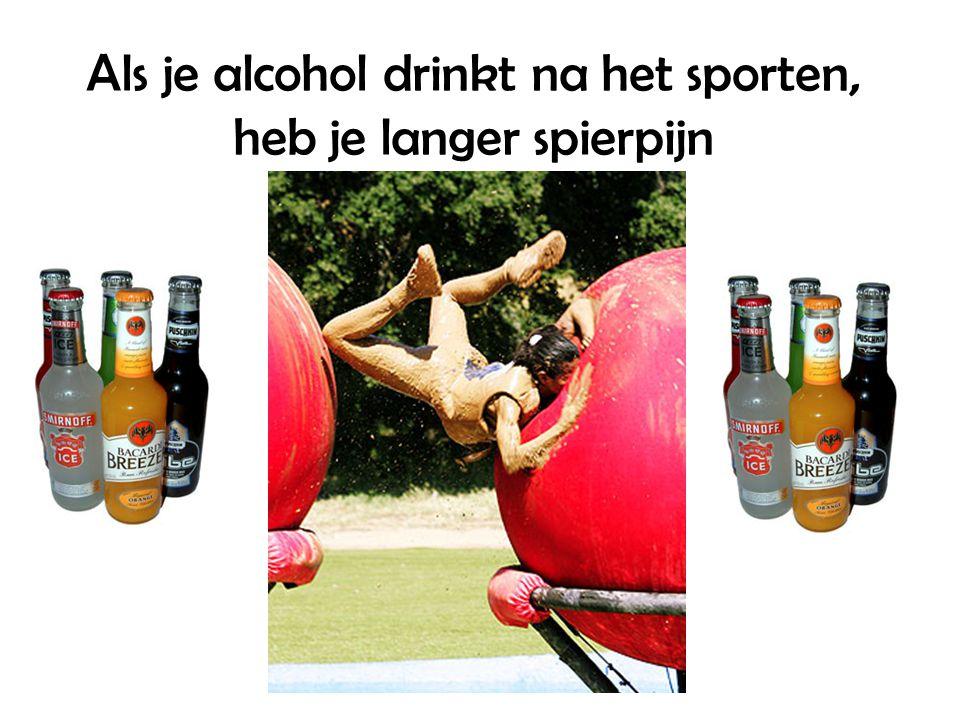 Als je alcohol drinkt na het sporten, heb je langer spierpijn