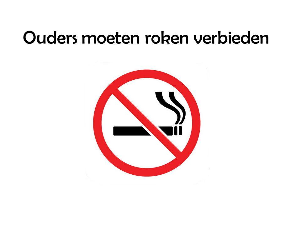 Ouders moeten roken verbieden