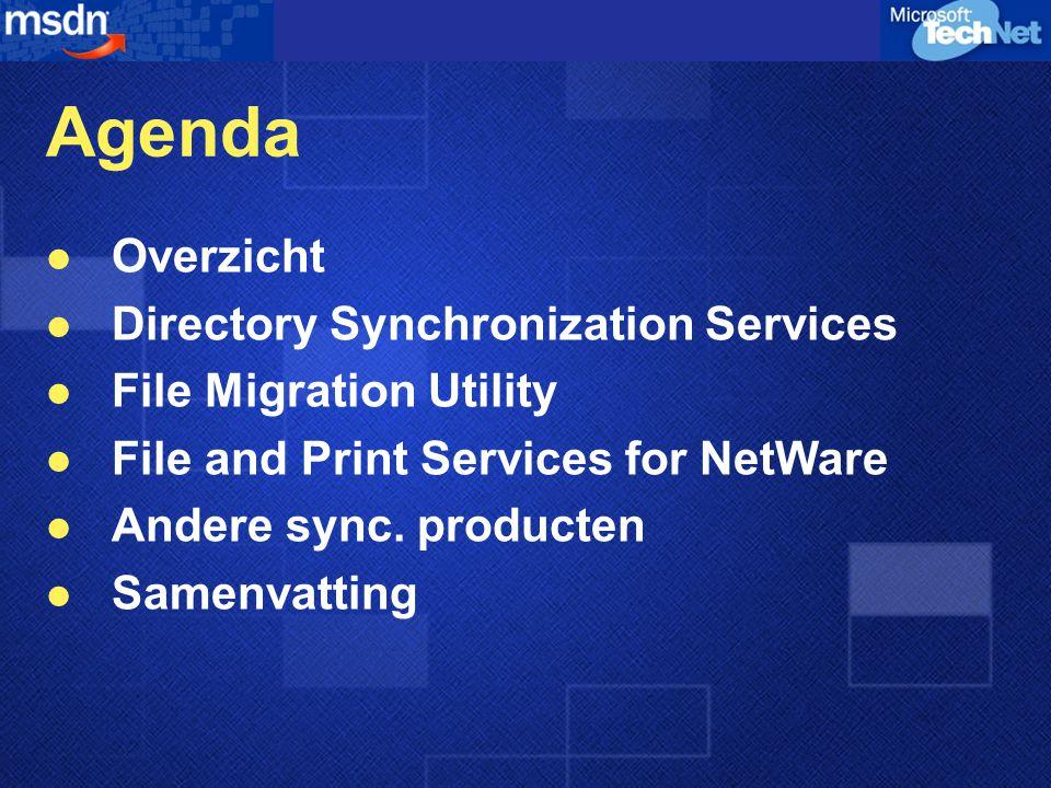 File and Print Services for NetWare v.5 File and Print Services for NetWare v.5 (FPNW5) biedt de mogelijkheid om Windows 2000 servers beschikbaar te stellen als NetWare File en Print Servers