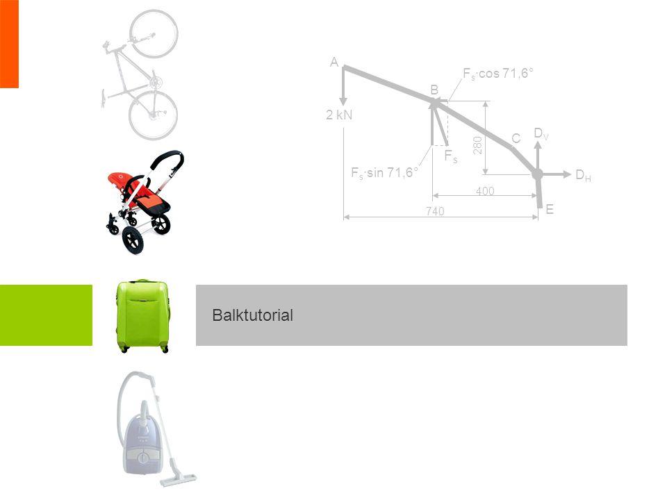 Het maken van een sterkteberekeningBalktutorial opgave 3 Vervolgens vervangen we inklemming door de bijbehorende reactiekrachten en het bijbehorende reactiekoppel.