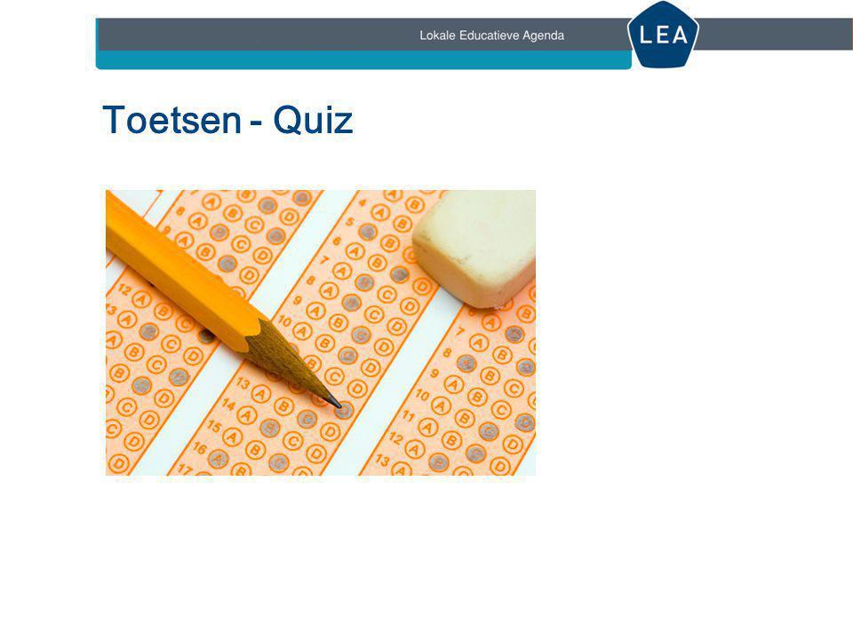 Toetsen - Quiz