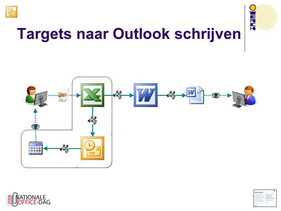 Targets naar Outlook schrijven