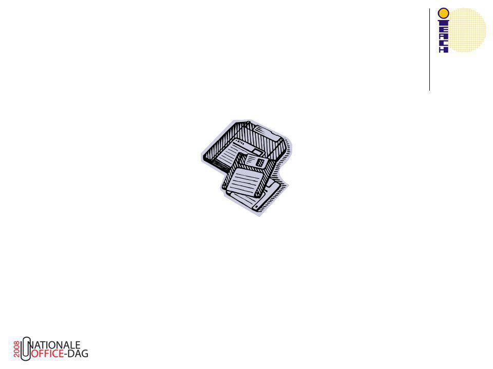 Automatisch werkbalk maken  Aanmaken bij openen document Private Sub Workbook_Open()  Verwijderen (!) bij sluiten document Private Sub Workbook_BeforeClose(Cancel As Boolean)  Bij verwijderen ook alle knoppen verwijderen  Kunnen zijn verplaatst door gebruiker  Vandaar de Tag.